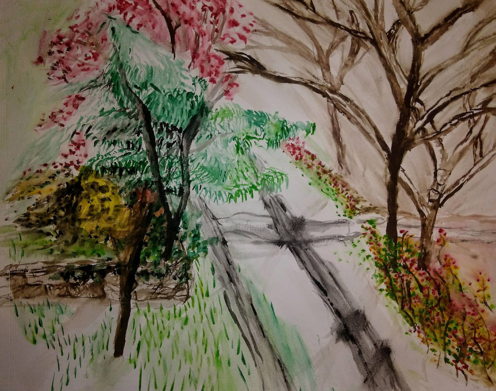 Autumn Trees Sketch by jag140