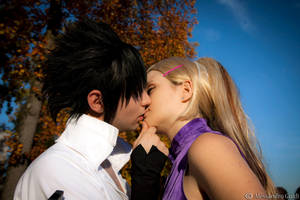 SasuIno . the kiss by Rael-chan89