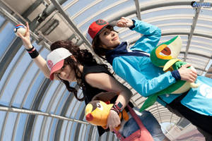 Touya and Touko . Pokemon Black and White cosplay by Rael-chan89
