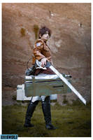 Defending the Wall . Eren Jaeger cosplay by Rael-chan89