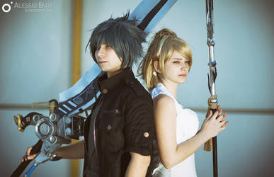 Dawn . Noctis and Luna cosplay from Final Fantasy by Rael-chan89