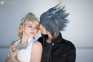 Protect the King : Noctis and Luna cosplay FFXV by Rael-chan89