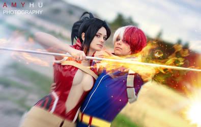 TodoMomo rising . Boku no Hero Academia cosplay by Rael-chan89