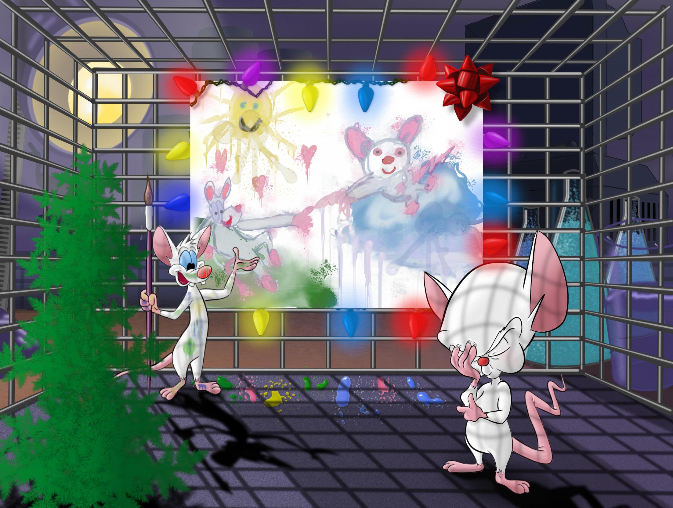Pinky and the Brain - Christmas by Infindibulator