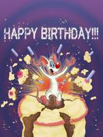 Request - Pinky's Birthday Card by Infindibulator