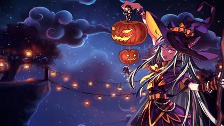 Ibuki Mioda Halloween Wallpaper by Pratishka