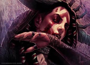 Bloodthrone Vampire by SteveArgyle