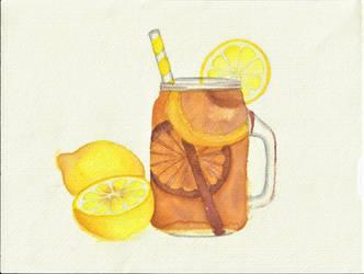 Ice Tea- watercolor by ShadowChroma