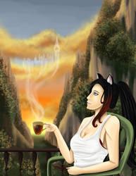 British Tea at Sunrise by Rander-MT