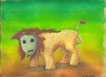 Lion avec un masque .. by Kabefis