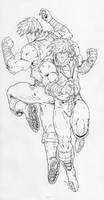 Double Dragon by -vassago-