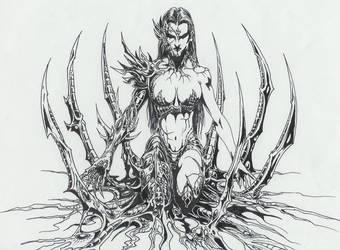WitchBlade inked by -vassago-