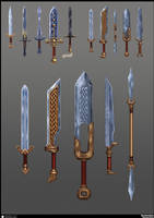 Knight swords concept by De-Prime