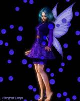 Blue Bubble Fae by fairyfreakster