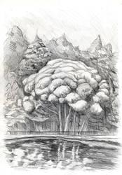 Pond by AkagenoSaru
