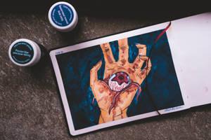 An eye on the hand... by elizabetezv
