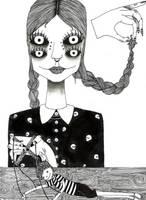 Wednesday Addams by AIDSclown