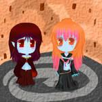 AT : Lyna and Nyra by marina1agathe