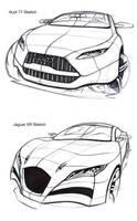 Audi T7 and Jaguar XR sketches by TonyWcK