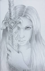 A Girl with a Sword by Eladie