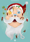 In Santa's Head by SloorpWorld