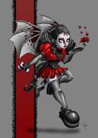 Amarantha the Vampire Goth by LadyKallaghash