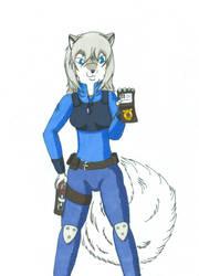 Officer Nakou Standing By by Loup-de-Feu