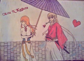 Happy valentines day_Okita X Kagura by PaCii8