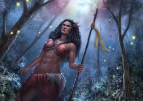 Pocahontas, The huntress princess by Reffelia