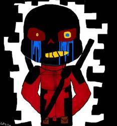 (Request) Error Sans as Deadpool by Catsila