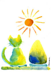 Mr Cat and Mr UO. by koony