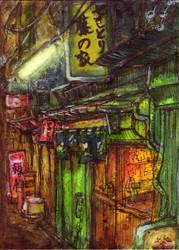 Yakitori-ya in Shinjuku. by koony