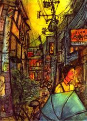 Shimokitazawa 3. aftertherain. by koony