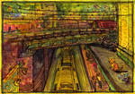 rooftop traintrack. by koony