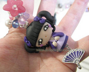 kokeshi doll necklace by AlchemianShop