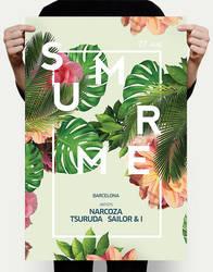 Exotic Summer Flyer PSD by DusskDeejay