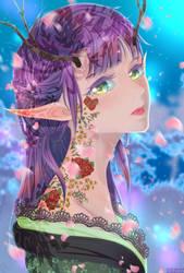 Moonlit Sakura by Neruichi