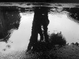 Reflected on rain by Selcomad