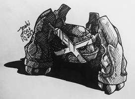Ink 17 Day 10: Metagross by Inoki-the-fox