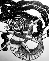 Ink 17 Day 31: Giratina by Inoki-the-fox