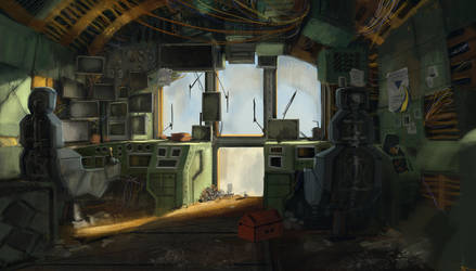 Rusty Ship Interior by J-Humphries