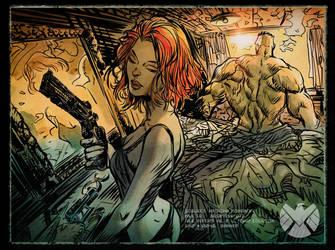 Natasha Romanoff Secret Lovers: Motel Dawn (Hulk) by DanieleAfferni