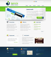 Corporate web layout by Robke22