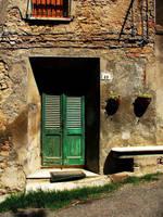 Green door by faather