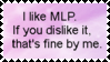 I like MLP stamp by Llama-lady