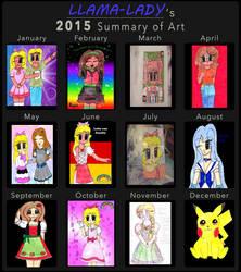 2015 summary of art by Llama-lady