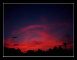red sunrise by latebraking