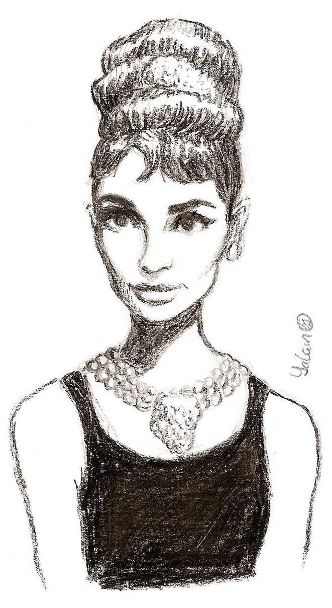 audrey hepburn sketch 3 by yalchinosis