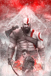 Kratos and Atreus by SimArtWorks