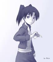 Amasawa Yuuko by paxiti